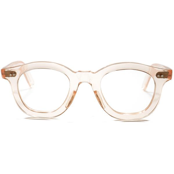 フラットレンズ 推奨 GOODサイズ個体 1950s フランス製FRAME FRANCE デッドストック FLAT&WIDEリム PATO ボストン FRESH PINK  ボストン ビンテージ メガネ 眼鏡 a5532