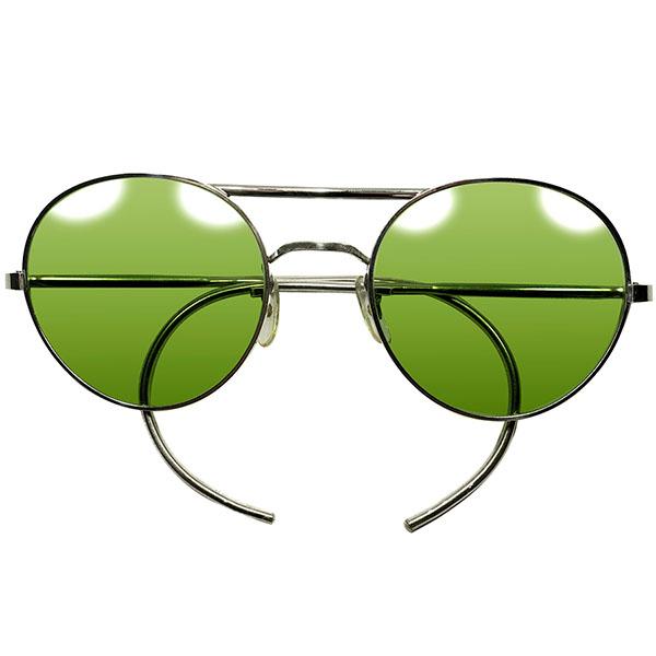 EAYLY期継承ゲキ渋玄人 DESIGN ブリティッシュミリタリー正式採用品 WW2大戦期 老舗ALGHA製TYPE-Gラウンド AVIATOR アビエーターサングラス ビンテージ丸眼鏡 a5561