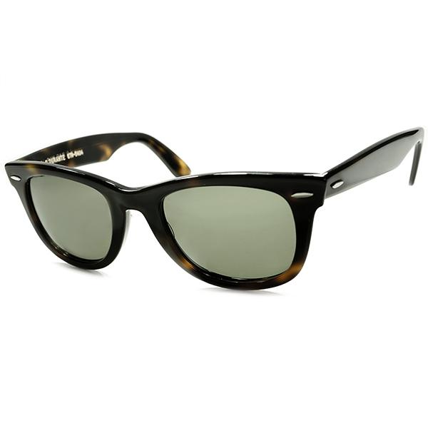 オールド物限定 人気レア色 MINT個体 1960s-70s USA製 B&L RAYBAN ボシュロム レイバン WAYFARER1 ウェイファーラーヴィンテージ サングラス 黒系鼈甲 BLACK AMBER 眼鏡 メガネ a5582