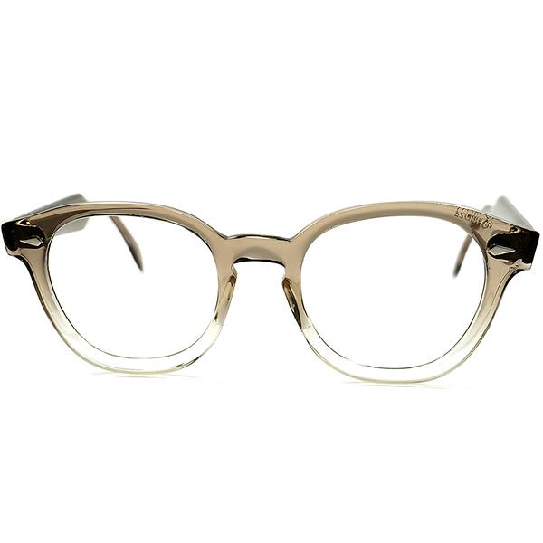 完璧シェイプ&デザイン 球数極少MODEL デッド級 TOPレベル MINT個体 1960s AMERICAN OPTICAL AOアメリカンオプティカル MADE IN USA JAZZ アーネル ARNEL型 ビンテージ 眼鏡 size 48/22 a5583
