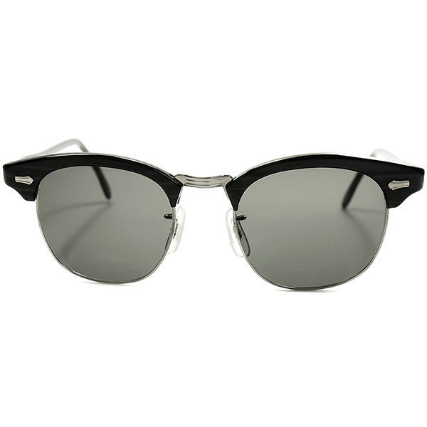 当時REAL名作 ブロータイプ 後継MODEL サングラス仕様 極上デッドストック個体 1960s-70s USA製 SRO STYL RITE OPTICS DOBBS2 size 50/22 日本製 OLD物G15系ガラスLENS入 ビンテージヴィンテージ 眼鏡メガネ a5590