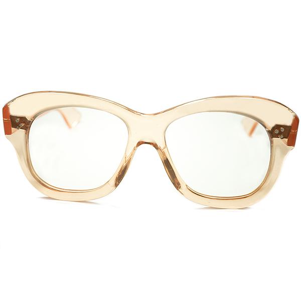 40s スリードット有名モデル基本カラー 1940s FRAME FRANCE フランス製 デッドストック DEADSTOCK 芯なし極太TEMPLE x 3DOTウェリントンPANTO フレンチビンテージ メガネ 眼鏡 a5624