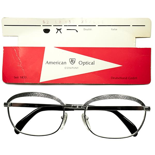 新事実発覚 1960s-70s DEADSTOCK デッドストック 西ドイツ製 AOアメリカンオプティカル AMERICAN OPTICAL OVALウェリトン 本金張 ブロータイプ ビンテージヴィンテージ 眼鏡メガネ size52/18 1/20 12KGF a5659