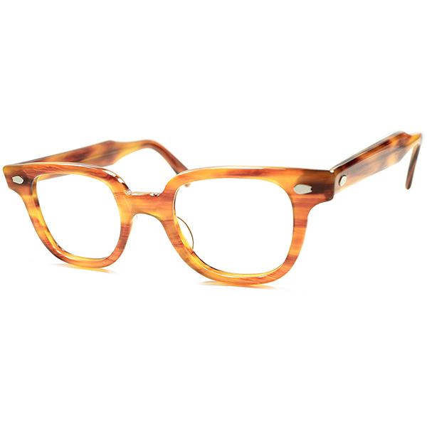 FIFTIESど真ん中 RAREモデル 最高ランク DEADSTOCK デッドストック 1950s USA製 LIBERTY アーネル ARNEL系HORNRIM 欧米人気色 HONEY AMBER 実寸42/21 ヴィンテージ 眼鏡 メガネ a5678