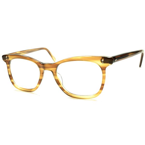 ド定番 イギリス国民的ビンテージ 1960s-70s 英国製 MADE IN ENGLAND ブリティッシュCLASSIC ウェリントンBRONDE TORTOISE 実寸46/20 眼鏡 メガネ a5724