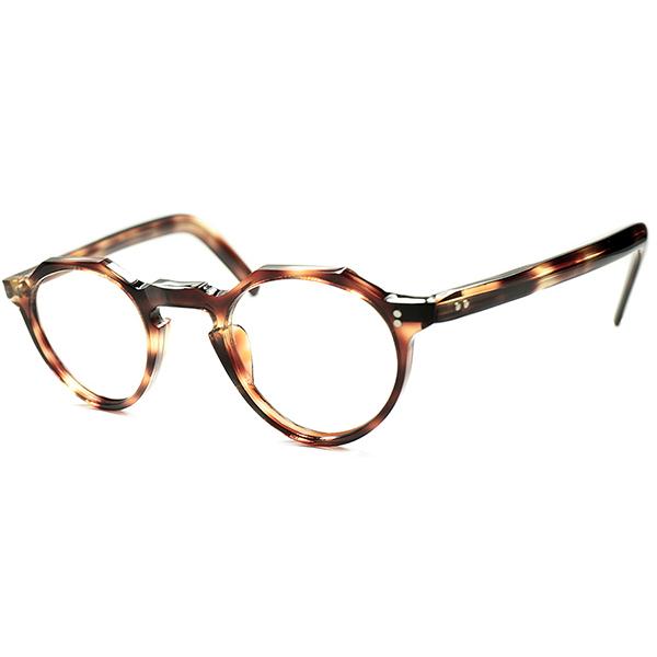 お手本佇まいx 安定SPEC 日常使い向け優秀個体 DEADSTOCK デッドストック 1950s フランス製 MADE IN FRANCE オリジナル KEYHOLE クラウンパント CROWN PANTO 鼈甲柄 ビンテージ メガネ 眼鏡a5735