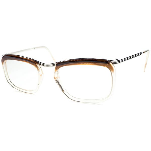 最大級サイズ 希少個体 DEADSTOCK デッドストック 1950s-1960s FRAME FRANCE フレーム フランス フランス製 AMOR STYLE フレッシュピンクベース BROWN FADE ビンテージヴィンテージ 眼鏡メガネ size52/22 a5742