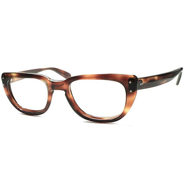 中性的UNISEXデザイン安定SPEC個体 1960s デッドストック DEADSTOCK USA製 BAUSCH&LOMB ボシュロム B&L 流線型KEY HOLE 本場 ウェリントン ビンテージヴィンテージ 眼鏡メガネ size47/19 a5804