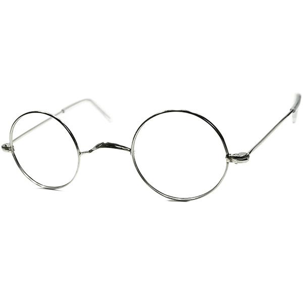 質感&シルエット継承 実用的超GOOD SIZEアップデート1950s- 60sフランス製 デッドストック DEADSTOCK FRAME FRANCE 一山式ブリッジ 正円ラウンド ビンテージ 丸眼鏡 メガネ a5835