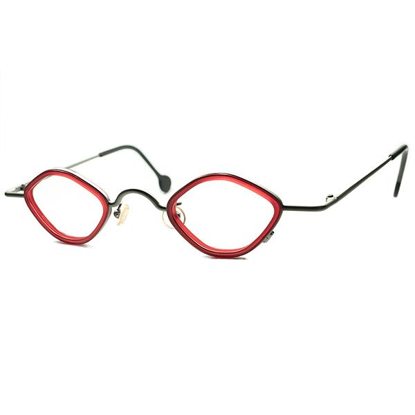 独自STYLE確立テクニカル 芸術的デザイン DEADSTOCK デッドストック 1990s ITALY製 l.a.Eyeworksアイワークス 小径インナーリム 変形OCTAGON オクタゴン ビンテージヴィンテージ 眼鏡メガネ a5883