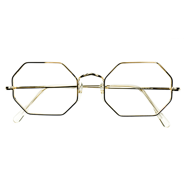 老舗UK CLASSIC 大きめサイズ個体 1960s-70s DEADSTOCK デッドストック 英国製 ALGHA 本金張 12KTGF オクタゴン OCTAGON size 52/20 ビンテージ 眼鏡 メガネ A5899