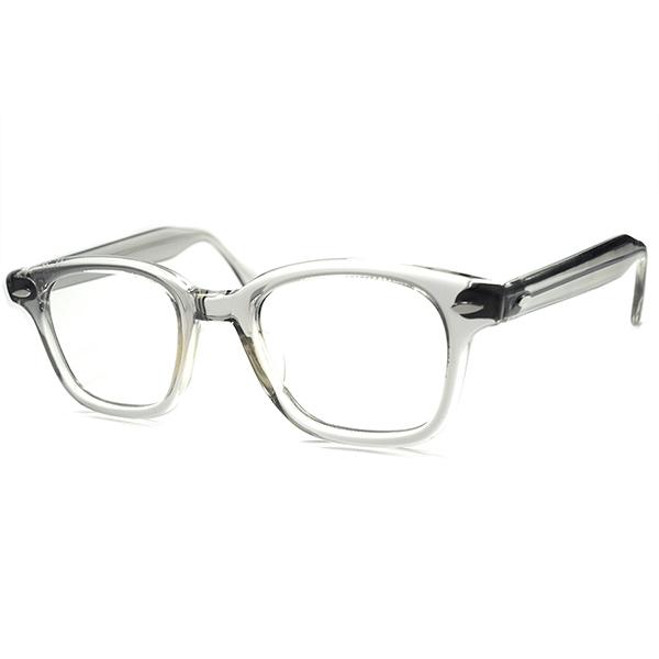 ハイセンスGEEK デッドストック 1950sUSA製 ウェイファーラー WAYFARER系統ウェリントン GRAY SMOKE仕様 ビンテージ 眼鏡 メガネ size 46/22 a5919