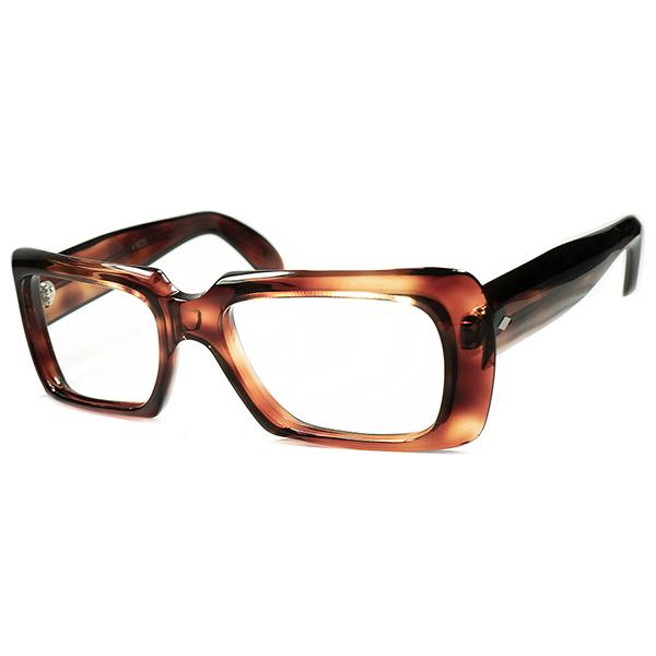 職人技連発 鮮烈FRENCHモードDESIGN 1960s FRAME FRANCE フレーム フランス フランス製 デッドストック DEADSTOCK 立体多面的CUTTING 肉厚SQUARE ビンテージヴィンテージ 眼鏡メガネ a5921