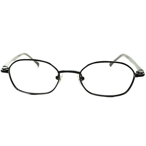 日本人好みSPEC シンプルイズベスト個体 1990s デッドストック DEADSTOCK 日本製 Jean Paul Gaultier ゴルチエ 7角形 HEPTAGON 黒塗りメタル ビンテージ 眼鏡 メガネ 5928
