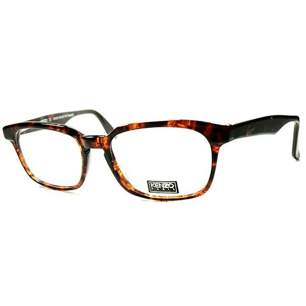 新鮮90sテイスト BASIC デザイン 1980s-90s フランス製 デッドストック KENZOケンゾー バネ式蝶番 KEYHOLE フレンチウェリントン ヴィンテージ 眼鏡 メガネ a5976