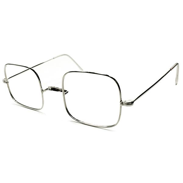 独特無機質フォルム & 絶妙バランス 超GOOD SIZE個体1950s- 60s フランス製 デッドストック DEADSTOCK FRAME FRANCE サドルブリッジ SQUARE ヴィンテージ 眼鏡 メガネ 実寸48/22 a5988