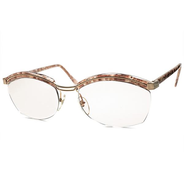 別格品質オールドエレガンス 即着用可 1960s-70s デッドストック FRAME FRANCE フレーム フランス フランス製 本家 AMOR アモール金張 リムレスブロー サングラス ビンテージヴィンテージ 眼鏡メガネ a5995