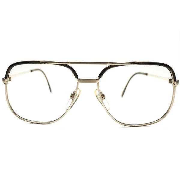 激シブ全盛期AVIATOR STYLEモデル デッドストック 1970s 西ドイツ製 MADE IN WEST GERMNAY ローデンストック RODENSTOCK W-BRIDGE 1/20-10K本金張り コンビネーションフレーム BASTIAN size56/14 ビンテージヴィンテージ 眼鏡メガネ A5089