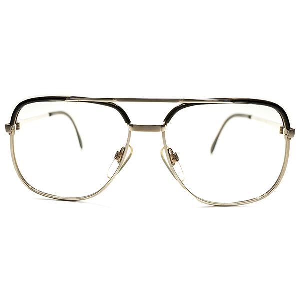 希少型 デッドストック 1970s 西ドイツ製 MADE IN WEST GERMANY RODENSTOCK ローデンストック BASTIAN 1/20-10K GOLD×BEER JAR アビエーター型 コンビネーション ビンテージヴィンテージ 眼鏡メガネ サングラス 52/14