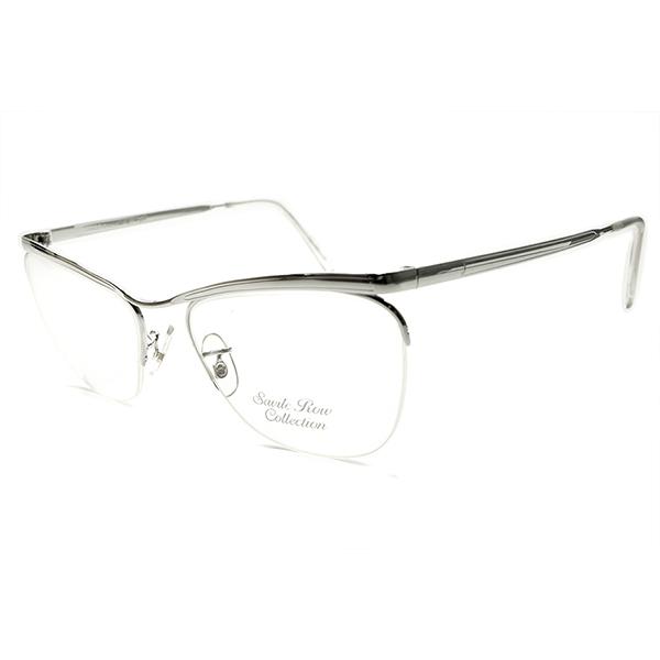 老舗上質モデル 1970s-1980s デッドストック 英国製 MADE IN ENGLAND savile row by ALGHA ホワイトゴールド 14KTGF ナイロール リムレス ビンテージヴィンテージ 眼鏡メガネ 52/20 実用的GOOD SIZE A5185