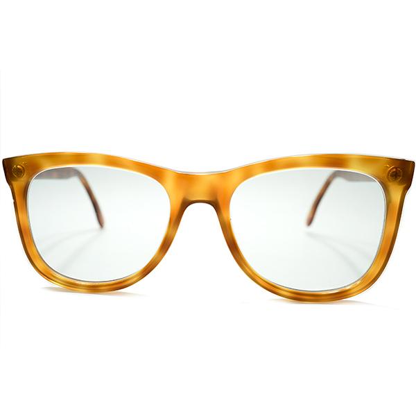 実用的クリーンLOOK 1980s 英国製 デッドストック オリバーゴールドスミス OLIVER GOLDSMITH ノーヒンジ ウェイファーラーシェイプ ヴィンテージ メガネ 眼鏡 サングラス 50/22 A5222