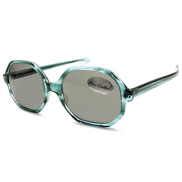 OLD MODERN 1960s-1970s アメリカンオプティカル AMERICAN OTPTICAL AO AO製オリジナルレンズ入 ミッドセンチュリー LARGEオクタゴン BLUE AMBER ヴィンテージ サングラス A5237