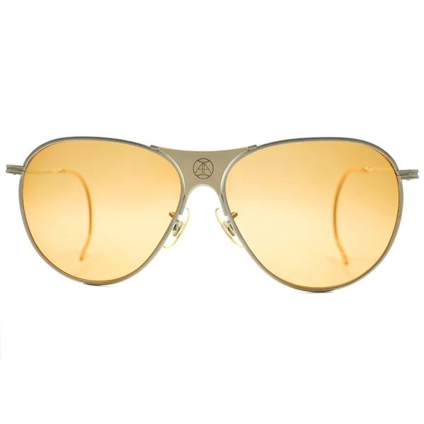 ウィンブルドン仕様ALL WHITE 殿堂入テニス選手アーサーアッシュ シグネチャーモデル 1970s アメリカ製 アメリカンオプティカル AMERICAN OPTICAL AO FUL-VUE仕様 ビンテージヴィンテージ 眼鏡メガネ サングラス AMBER MATICオリジナルレンズ入 A5238