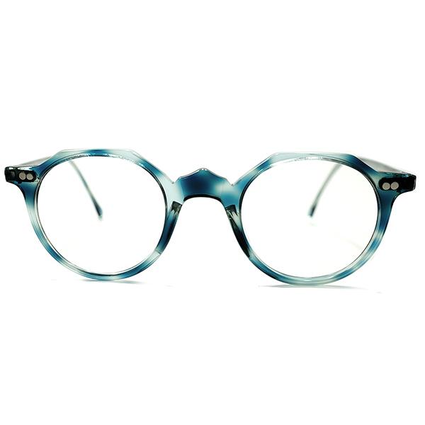 激レア初見色BLUE AMBER1970sフランス製OLD FRENCHインスパイア山型BRIDGEクラウンパント当時的仕様ヴィンテージ眼鏡A5271サングラス