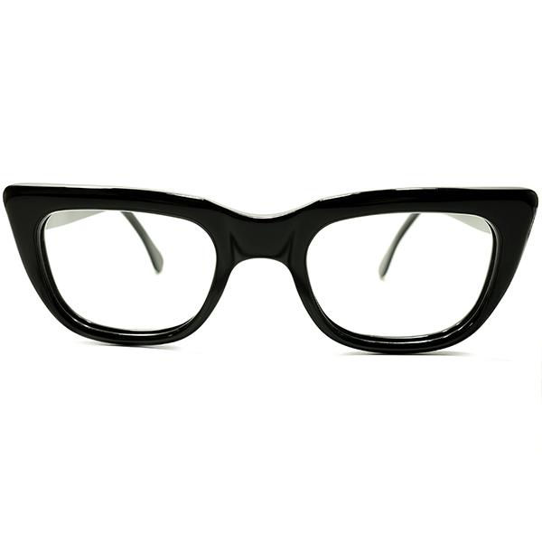 不朽名作オリジナル品 極上個体 1960s 西ドイツ製 MADE IN WEST GERMANY RODENSTOCK ローデンストック ROCCO 黒 BLACK CLASSIC ウェリントン 46/24 ビンテージヴィンテージ 眼鏡メガネ A5274