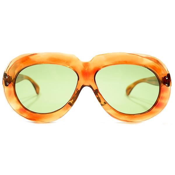 極上アバンギャルドSHAPE デッドストック 1950s フランス製 MADE IN FRANCE 2DOT ラウンドワイドリム 鼈甲柄 PANTO パントフレーム 日本製ガラスレンズ入 サングラス ビンテージヴィンテージ 眼鏡メガネ A4441