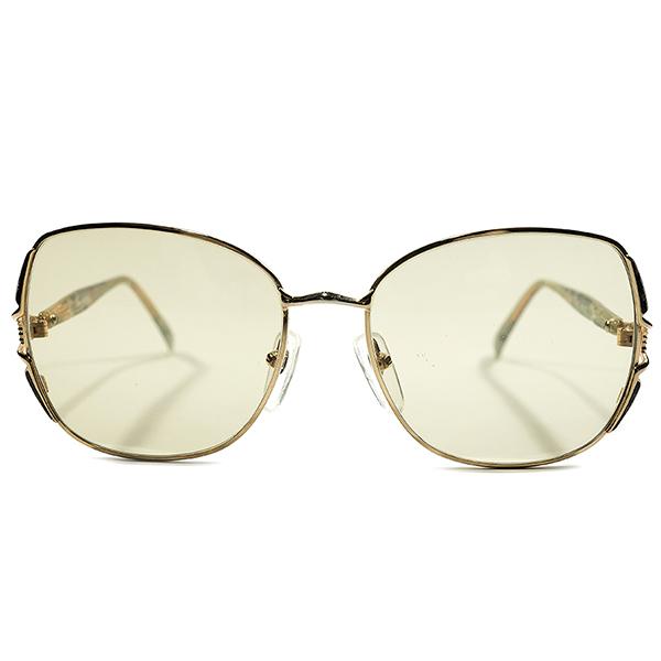 ハイセンスOLD SCHOOL デッドストック 1980s 英国製 MADE IN ENGLAND オリバーゴールドスミス OLVER GOLDSMITH 大理石柄テンプル×ゴールドメタル ビンテージヴィンテージ 眼鏡メガネ サングラス 日本製ブラウンガラスレンズ入 A4444