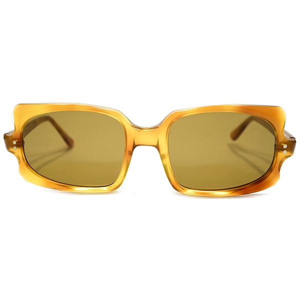PIERRE CARDIN型前衛的ハイデザイン デッドストック 1960s フランス製 MADE IN FRANCE フレーム フランス FRAME FRANCE 鼈甲柄 スクエア ARTシェイプフレーム 当時物浅カーブガラスLENS入 サングラス ビンテージビンテージヴィンテージ 眼鏡メガネA4578