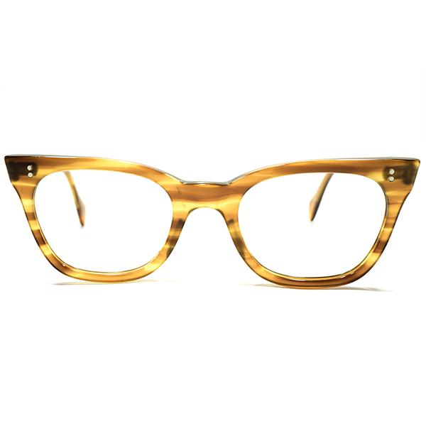UKベーシック定番品 デッドストック 1960s 英国製 MADE IN ENGLAND CLASSIC AMBER 鼈甲柄 2ドット NARROW ウェリントン ヴィンテージ メガネ 眼鏡 A4580