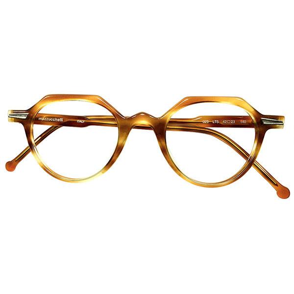 40sインスパイア高精度&超GOOD SIZE デッドストック 1980s イタリア製 MADE IN ITALY フロントHINGE仕様 鼈甲柄 ナロー クラウンパント CROWN PANTO size42/23 ヴィンテージ メガネ 眼鏡 A4592