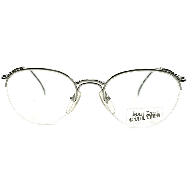 伝統的アナログ手法×ハイクオリティ デッドストック 1990s 日本製 MADE IN JAPAN ジャンポールゴルチエ Jean Paul GAULTIER W-BRIDGE ナイロール ボストン BOSTON ヴィンテージ メガネ 眼鏡 A4599