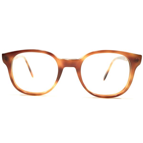 デッドストック 1980s イギリス製 MADE IN ENGLAND アングロアメリカン ANGLO AMERICAN SMALL SIZE スライド式蝶番 パントフレーム 鼈甲柄 ヴィンテージ 眼鏡 メガネ A4601