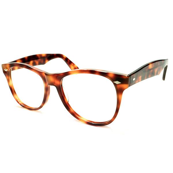 英国解釈WAYFARER 1970s ハンドメイド ENGLAND製 ウェイファーラー型 菱形ダイヤHINGE ウェリントンフレーム 鼈甲柄 ビンテージヴィンテージ 眼鏡メガネ イギリス UK A4610
