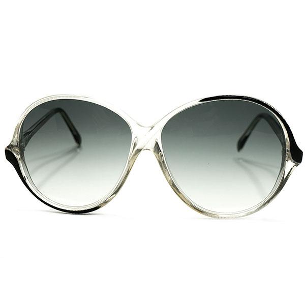 MODERNハイセンス 1970s-1980s 英国製 MADE IN ENGLAND オリバーゴールドスミス OLIVER GOLDSMITH 非対称BLACKペイント AVIATOR サングラス ヴィンテージ メガネ 眼鏡 イギリス UK A4663