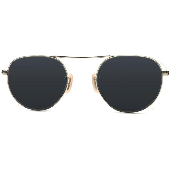 激渋ミリタリーオーラ 1930s デッドストック アメリカ製 MADE IN USA ボシュロム BAUSCH&LOMB 1/10 12KGF 本金張ゴールド UPPER BRIDGE アビエータースタイル ヴィンテージ 眼鏡 サングラス USA製デッドストックダークグレーガラスレンズ入 A4803