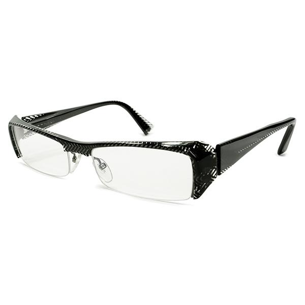 画期的ハイクオリティ デッドストック 1990s ハンドメイド フランス製 HAND MADE IN FRANCE アランミクリ alain milki 横長スクエアSHAPE リムレス ナイロール ブロータイプ size54/17 ヴィンテージ メガネ 眼鏡 A4822