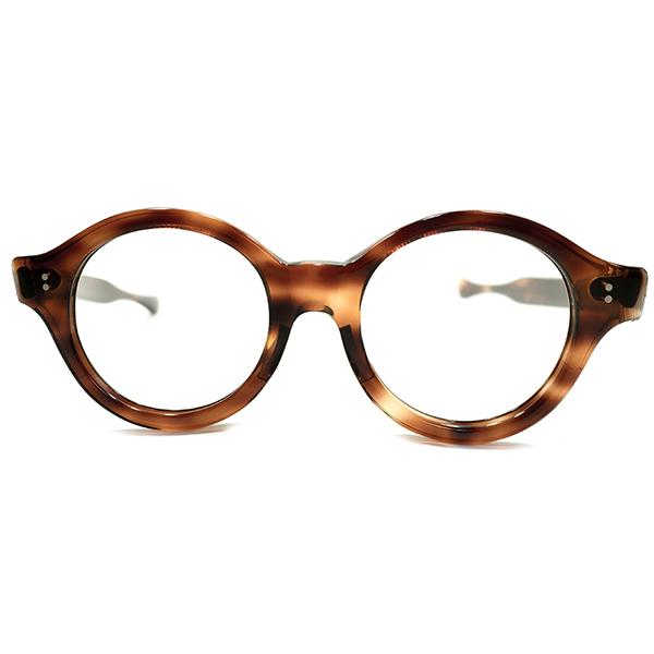 超GOOD SHAPE デッドストック 1960s フランス製 MADE IN FRANCE DEMI AMBER 鼈甲柄 ストレートテンプル ARTISTIC パント ヴィンテージ メガネ 眼鏡 A4853