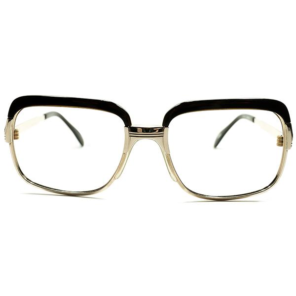 質実剛健ノスタルジー デッドストック 1960s-1970s 西ドイツ製 MADE IN WEST GERMNAY 大御所METZLER メッツラー 本金張GOLDメタル×BEER JAR コンビネーションフレーム size54/18 ビンテージヴィンテージ 眼鏡メガネ A4861