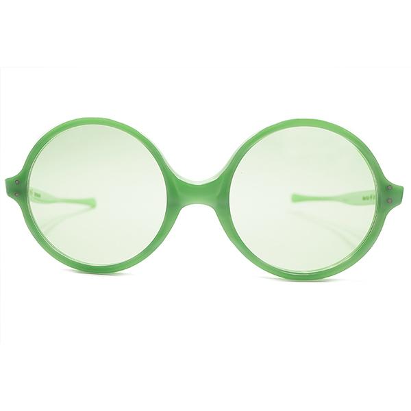 同一TONE仕様 デッドストック 1960s アメリカ製 MADE IN USA アメリカンオプティカル AMERICAN OPTICAL AO SUNSEWPT ALL GREEN MINT ヴィンテージ 丸メガネ サングラス USA製グリーンガラスレンズ入 A4886