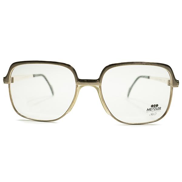 ハイエンド松下幸之助STYLE デッドストック 1970s-1980s ドイツ製 MADE IN GERMANY 老舗METZLER メッツラー GOLD×CHARCOAL GRAY コンビネーションフレーム size54/18 ヴィンテージ メガネ 眼鏡 A4891