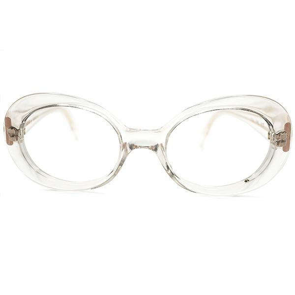 FRENCH MID CENTURY STYLE 1990s ハンドメイド フランス製 アランミクリ mikli par mikli ALAIN MIKLI クリア×ゴールド芯 オーバル ラウンド ヴィンテージ メガネ 眼鏡 A4918