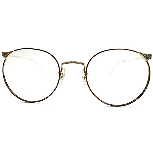 EARLY期名作再構築 デッドストック 1970s アメリカ製 MADE IN USA ARTCRAFT アートクラフト 彫金×AMBER PAINTリム 最終形態 FUL-VUE ラウンド ヴィンテージ 眼鏡 丸メガネ 実寸49/21 A4919
