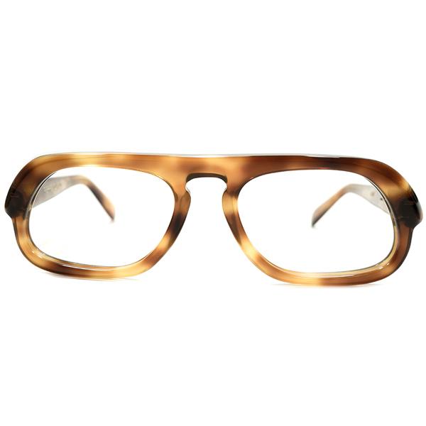 映画 PULPマイケルケイン劇中愛用モデル 変形 ミリタリーSHAPE 1950s-60sフランス製 ピエールカルダン PIERRE CARDIN 鼈甲柄 UPPER BRIDGE size 52/20 A4941 ビンテージ アンティーク メガネ 眼鏡