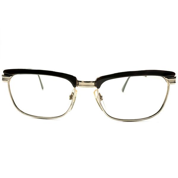 RICHARD型稀少モデル デッドストック 1960s-1970s 西ドイツ製 MADE IN WEST GERMANY ローデンストック RODENSTOCK CORDO 1/10-12K本金張り×DEMI コンビネーション ブロータイプ size56/18 ヴィンテージ メガネ 眼鏡 A4946