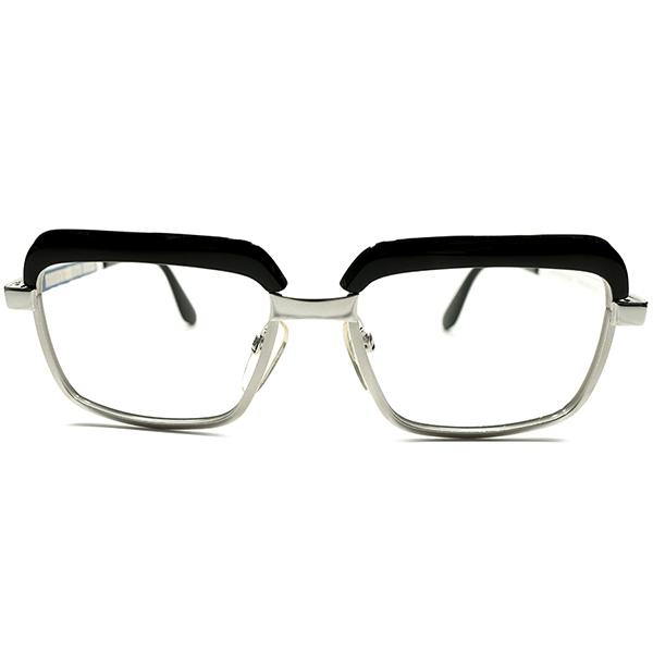 高水準CLASSICモデル デッドストック 1960s-1970s 西ドイツ製 MADE IN WEST GERMANY ローデンストック RODENSTOCK 名作コンビネーション ブロータイプ CONSTANTIN 黒×WHITEゴールド size52/16 ヴィンテージ メガネ 眼鏡 A4950