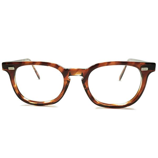 超STYLISH ミントコンディション 1960s アメリカ製 MADE IN USA アメリカンオプティカル AMERICAN OPTICAL AO 鼈甲柄 ナロー細身仕上 ウェリントン ヴィンテージ メガネ 眼鏡 44/20 A4976